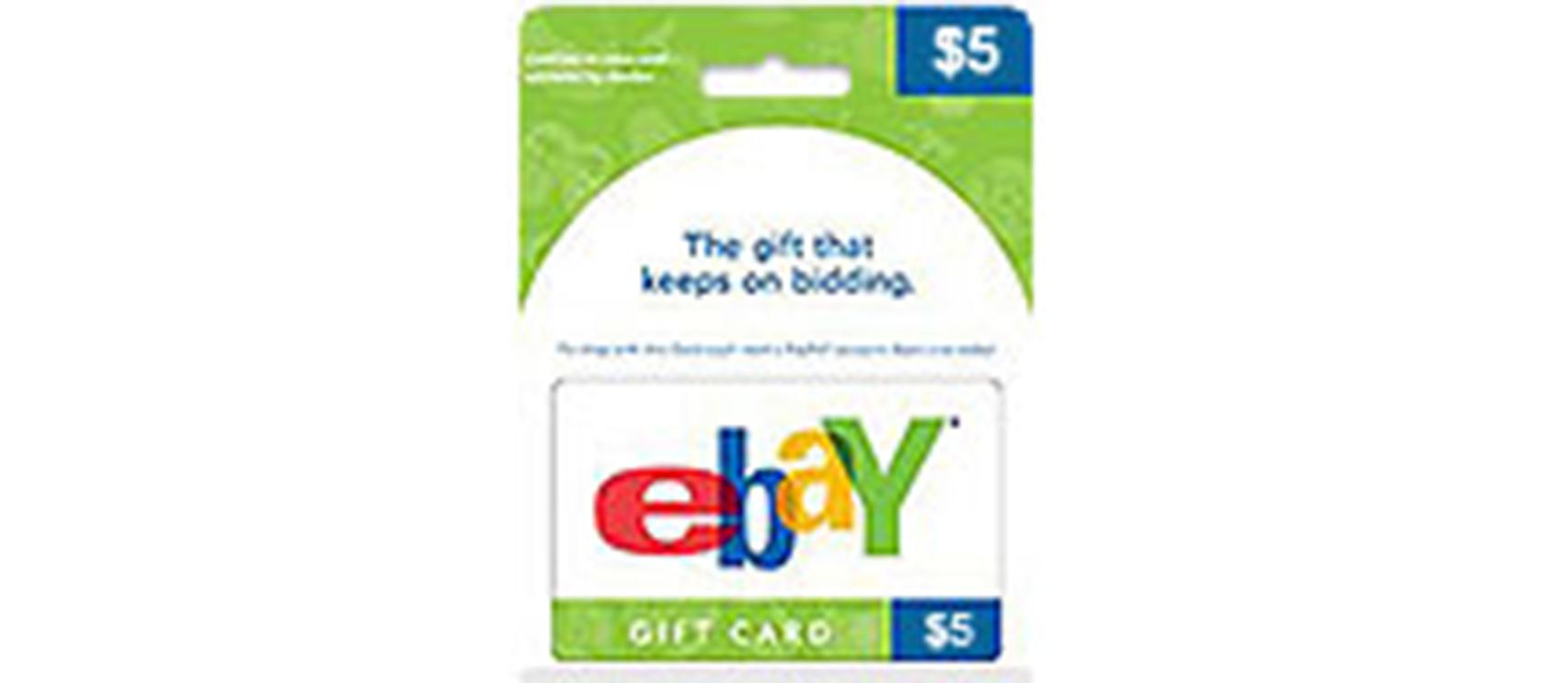 eBay Gift Card 5$  (US)  (lg)