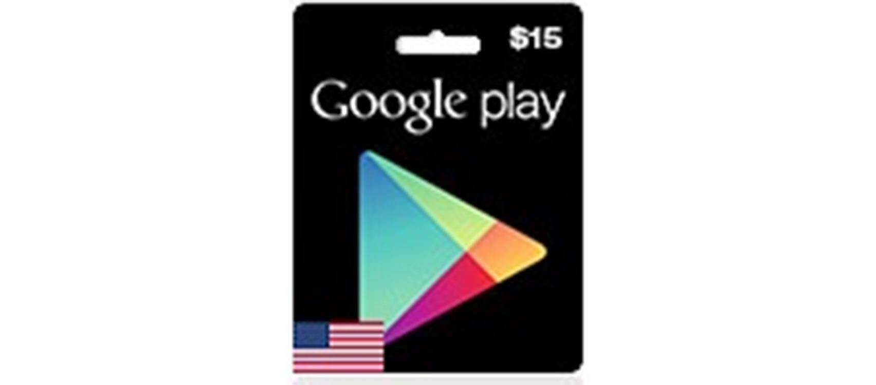 Google Play Gift Card US 15$  (lg)