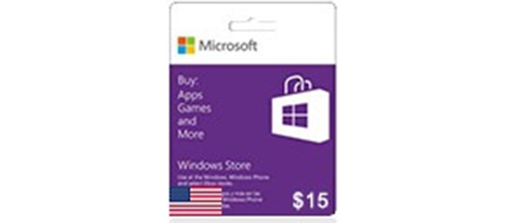 Windows Phone Store Gift Card  (US) 15$  (lg)