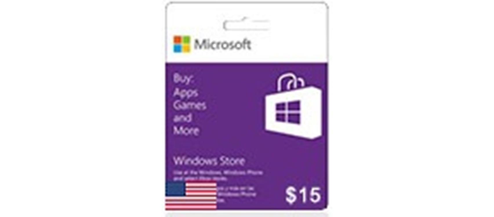 Windows Phone Store Gift Card  (US) 15$  (lg)