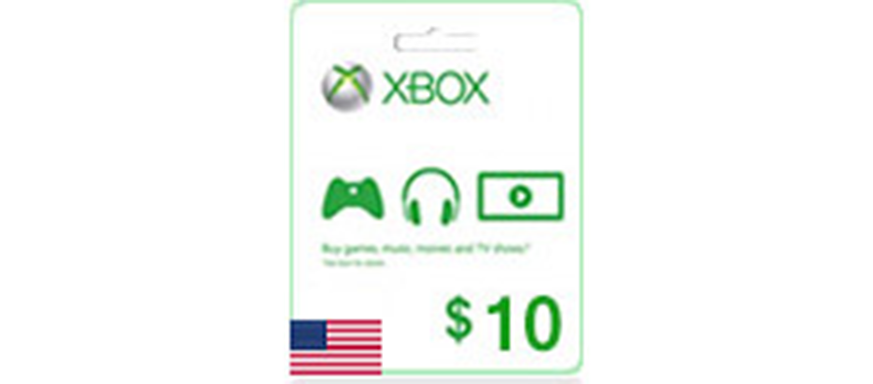 Xbox Live Gift Card  (US) 10$  (lg)